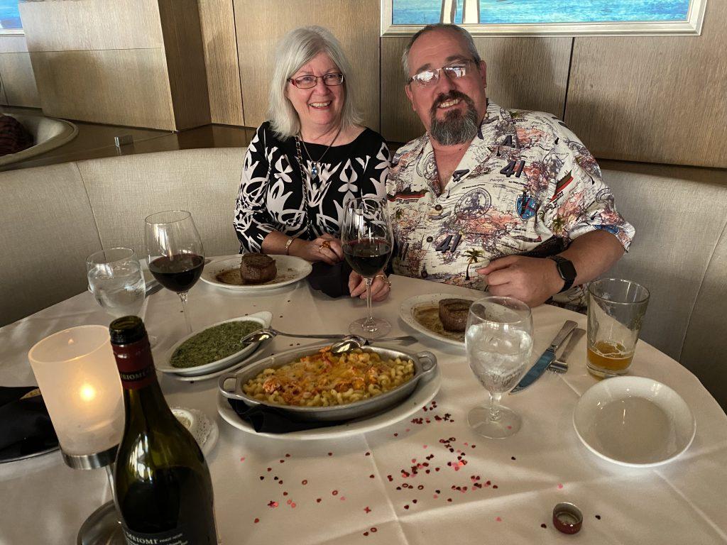 27th Anniversary Dinner Ruth Chris Embarcadero San Diego